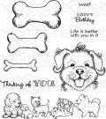 Heartfelt Creations - Paw-Fect Pooches Pre-Cut Cling Mounted Stamp Set (9 stamps)