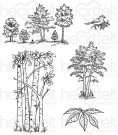 Heartfelt Creations - Woodsy Treescape Pre-Cut Cling Mounted Stamp Set (5 stamps)