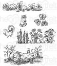 Heartfelt Creations - Woodsy Wonderland Pre-Cut Cling Mounted Stamp (6 stamps)