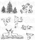 Heartfelt Creations - Woodsy Critters Pre-Cut Cling Mounted Stamp Set (7 stamps)