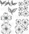Heartfelt Creations - Flowering Dogwood Pre-Cut Cling Mounted Stamp Set (5 stamps)