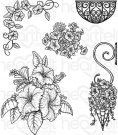 Heartfelt Creations - Classic Petunia Bouquet Pre-Cut Cling Mounted Stamp (5 stamps)