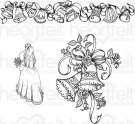 Heartfelt Creations - Classic Wedding Bells Pre-Cut Cling Mounted Stamp (3 stamps)