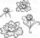 Heartfelt Creations - Peony Bud & Blossom Pre-Cut Cling Mounted Stamp Set
