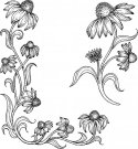 Heartfelt Creations - Blossoming Coneflower Pre-Cut Cling Mounted Stamp Set (2 stamps)