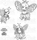 Heartfelt Creations - Honey Bee Maidens Pre-Cut Cling Mounted Stamp Set (4 stamps)