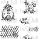 Heartfelt Creations - Sweet As Honey Pre-Cut Cling Mounted Stamp Set (6 stamps)