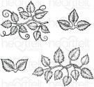 Heartfelt Creations - Leafy Accents Pre-Cut Cling Mounted Stamp Set (4 stamps)