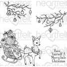 Heartfelt Creations - Merry Little Christmas Pre-Cut Cling Mounted Stamp Set (4 stamps)
