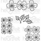 Heartfelt Creations - Oakberry Lane Blossoms Pre-Cut Cling Mounted Stamp Set (4 stamps)