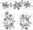 Heartfelt Creations - Patchwork Daisy Border Pre-Cut Cling Mounted Stamp Set (2 stamps)
