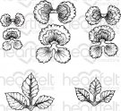 Heartfelt Creations - Burst Of Spring-Cheery Pansy Pre-Cut Cling Mounted Stamp Set (5 stamps)