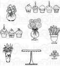 Heartfelt Creations - Sweet Shoppe Treats Pre-Cut Cling Mounted Stamp Set (8 stamps)