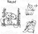 Heartfelt Creations - Purr-Fect Playdate Pre-Cut Cling Mounted Stamp Set (4 stamps)