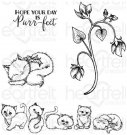 Heartfelt Creations - Purring & Playful Pre-Cut Cling Mounted Stamp Set (4 stamps)