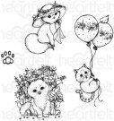 Heartfelt Creations - Playful Miss Kitty Pre-Cut Cling Mounted Stamp Set (4 stamps)