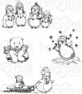 Heartfelt Creations - Merry Moments Pre-Cut Cling Mounted Stamp Set (4 stamps)