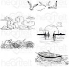 Heartfelt Creations - Sand & Sunsets Pre-Cut Cling Mounted Stamp Set (5 stamps)