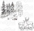 Heartfelt Creations Pre-Cut Cling Rubber Stamp Set - Create A 'scape Wilderness (2 stamps)