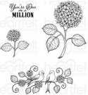 Heartfelt Creations - Cottage Garden Fresh Cut Hydrangea Pre-Cut Cling Mounted Stamp Set (4 stamps)