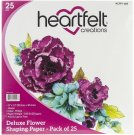 "Heartfelt Creations 12""x12"" Flower Shaping Paper (25 sheets)"