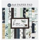 "Carta Bella 6""x6"" Paper Pad - Home Again (24 sheets)"