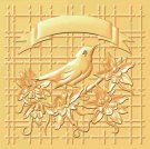 Nellies Choice 3D Embossing Folder Christmas Bird