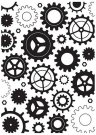 Nellie's Choice Embossing Folder - Cogwheels