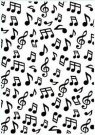 Nellie's Choice Embossing Folder - Background Musical Notes