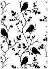 Nellies Choice Embossing Folder Tree With Birds