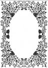 Nellies Choice Embossing Folder - Christmas Holly Oval Frame