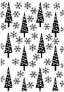 Nellies Choice Embossing Folder Christmas Pine-Trees And Snowflakes
