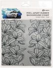 "Simon Hurley Create 6""x6"" Cling Rubber Background Stamps - Lovely Lilies"