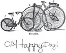 Itty Bitty Authentique Rubber Stamp - Happy Day