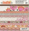 "My Minds Eye - 6"" x 6"" Indie Chic Saffron double-sided Paper Pad (24 sheets)"
