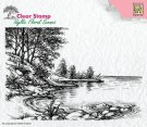 Nellie's Choice Clear Stamps - Idyllic Floral Waters Edge