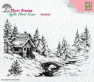 Nellie's Choice Clear Stamps - Idyllic Flora Winter Scene #1
