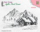 Nellies Choice Clear Stamps - Idyllic Floral Scenes Landscape with Cottage