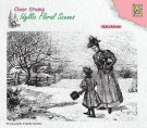Nellies Choice Clear Stamps - Idyllic Floral Vintage Wintery
