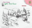 Nellies Choice Clear Stamps - Idyllic Floral Wintery