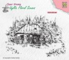 Nellies Choice Clear Stamps - Idyllic Floral Old Cottage