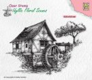 Nellies Choice Clear Stamps - Idyllic Floral Water Mill
