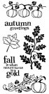 Inkadinkado Clear Stamps - Autumn Foliage