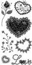 Inkadinkado Clear Stamps - Gem Stone Hearts