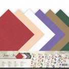 "Jeaninnes Art 12""x12"" Linen Paper Pad - Christmas Classics (12 sheets)"
