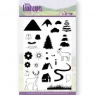 Jeanines Art Clear Stamp Set - Spring Landscapes Mountains
