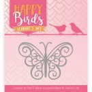Jeanines Art Dies - Happy Birds Happy Butterfly