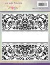 Jeanines Art Embossing Folder - Vintage Flowers