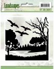 Jeanines Art Cut and Embossing folder - Landscapes