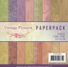 "Jeanines Art 6""x6"" Paper Pack - Vintage Flowers (23 sheets)"